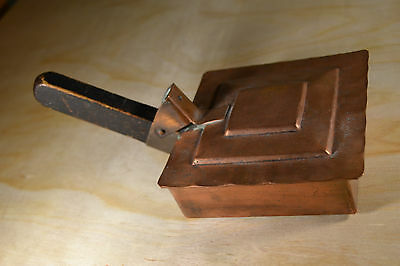 Antique Silent Butler Hand Made Hammered Copper Wood Handle
