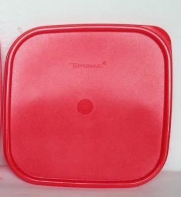 "Tupperware Modular Mates Square Chilli Red Seal Replacement Lid Brand 7 ⅜""Sq New"