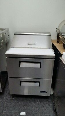 """Atosa MSF8309 SS 27"""" Sandwich Prep Table 2-Drawer Refrigerator CALL SAVE DEAL"""