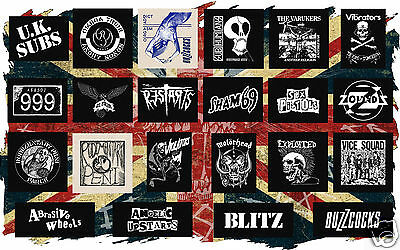 BRITISH PUNK PATCHES english hardcore chaos uk subs discharge gbh varukers clash