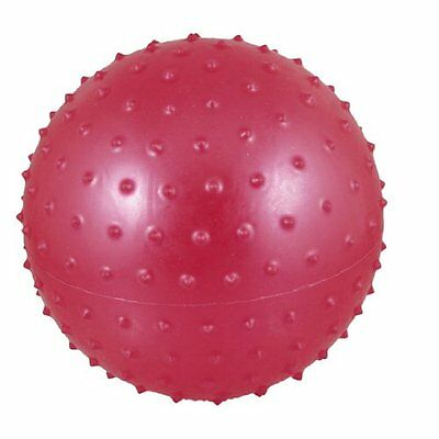 New 16cm Red Inflated Dia PVC Spiky Relaxing Massage Ball Toy for Kids HY