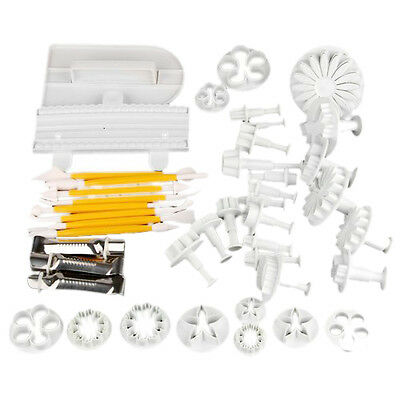 14 Set Cake Decorating Plunger Cutter Modeling Tools Smoother HY