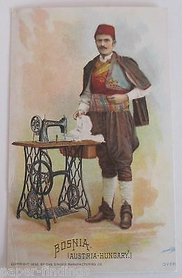 Singer Sewing Machine BOSNIA Victorian Trade Card