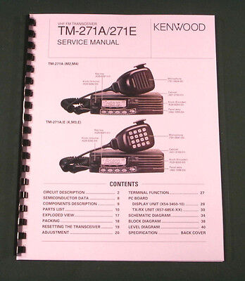 Kenwood TM-271A Service Manual - Premium Card Stock Covers & 28lb Paper!