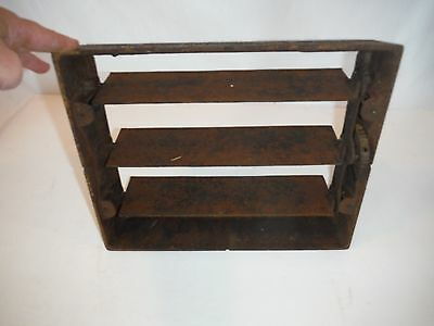 Antique~Vintage~CAST IRON HEATER GRATE BACK LOUVERS ONLY~Register Back Part Only