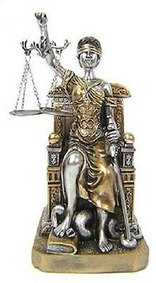 "10"" La Justicia Lady Justice Statue Greek Roman Goddess Rome Decor Blind"