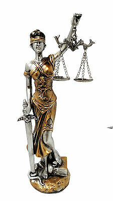 "13"" La Justicia Lady Justice Statue Greek Roman Goddess Rome Decor Blind"