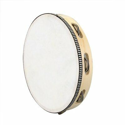 """10"""" Musical Tambourine Drum Round Percussion Gift for KTV Party HY"""