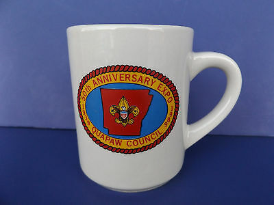Boy Scouts 50th Anniversary Expo Quapaw Council 1989 Coffee Mug Vintage Cup AR