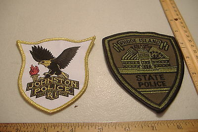 ~Johnston & State~Rhode Island Police Patches~