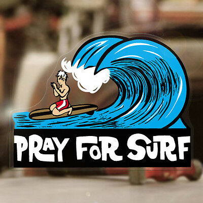 """Pray for surf sticker decal hot rod Woody Maui surf Hawaii surfing 4.25"""""""