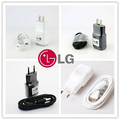 Original LG 5V-1.8A Travel Charger Adapter+Genuine Cable For LG G4 G3 G2 Nexus 5
