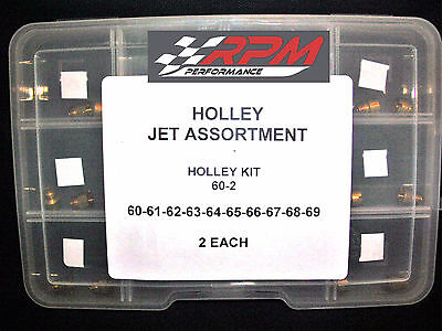 Holley Carburetor 1/4-32 GAS MAIN JET ASSORTMENT KIT 60 to 69 2 EACH 20PACK 60-2