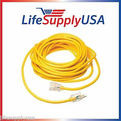 14/3 125V SJT Extension Cord LIGHTED Prong 50ft foot feet 50FT INDOOR OUTDOOR