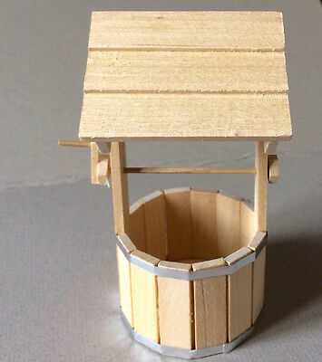 Garden Wishing Well, Doll House Miniature Garden Accessory Feature, 1.12 Scale