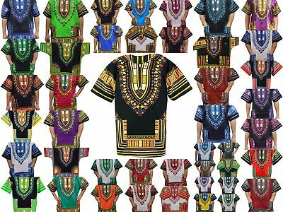 Dashiki Shirt Tribal African Blouse Men Top Shirt Women Rasta Hippie Blouse 1Siz