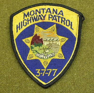 33950) Patch Montana Highway Patrol State Police Sheriff Fire Law Older insignia