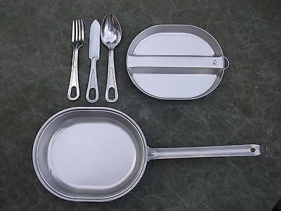 5 piece Stainless Steel USGI Mess kit with Fork, Knife, Spoon