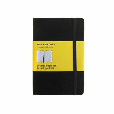 Moleskine Classic Squared Pocket Notebook Hard Cover Black NEW Free Shipping