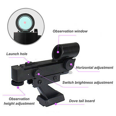 Red Dot Finder Scope Star Finder Sighting for Astronomy Telescope Brand New+