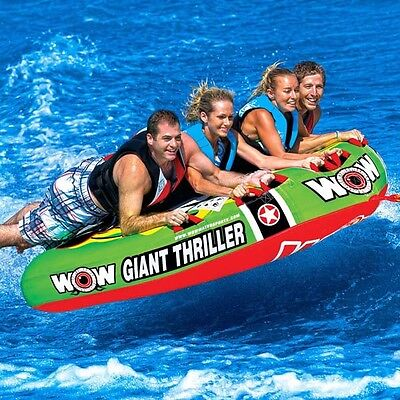 WOW Giant Thriller Mattress for 1 - 3 Riders Towable Ski Tube Inflatable Biscuit
