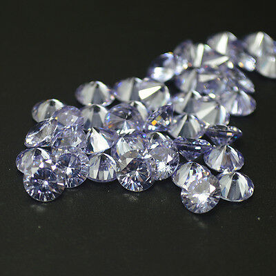 Cubic Zirconia Hand Inspected CZ Premium Quality 20pcs A Lot Loose Round Stone