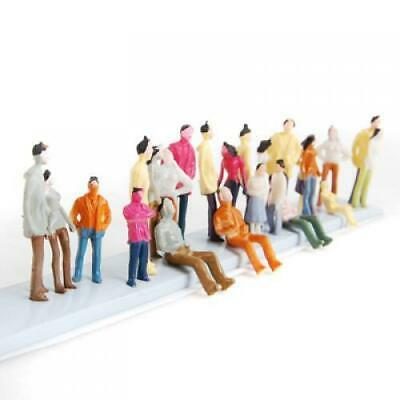 100 Painted Train People Passengers Figures Mix Posture Model N Scale 1:150