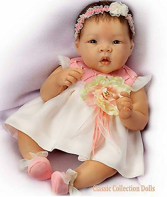 "Ashton Drake ""SWEET BLOSSOM"" - LIFELIKE BABY GIRL DOLL- NEW - IN STOCK NOW !"