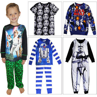 Official Disney Star Wars Kids Pyjamas Boys 2 Piece All In One Lounge Nightwear