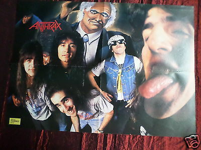 Anthrax - Magazine Clipping- ( Centrespread  Picture ) Pin -Up