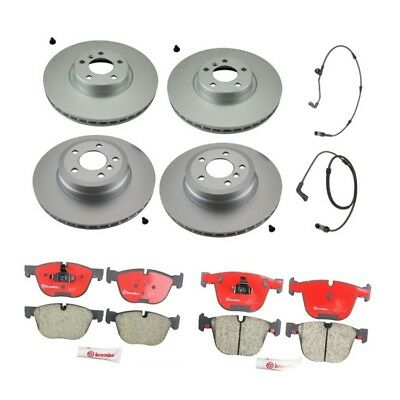 BREMBO brake pads /& BREMAXX SLOTTED new disc rotors FRONT for BMW X5 E70 X6 E71
