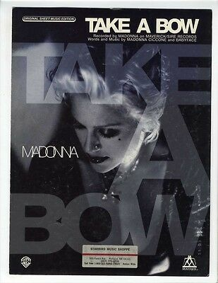 MADONNA Sheet Music 1995 Take A Bow