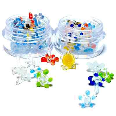 Glass Pipe Screens (Daisy Style) Quality Smoke Screen - 40+ pc w/ 2 Mini Jars