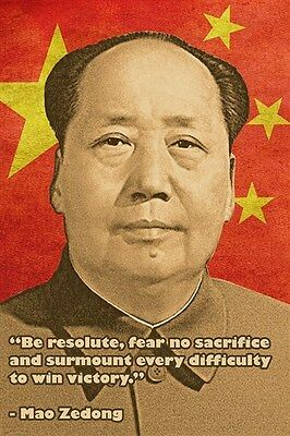 Chinese Big Poster Mao Zedong 100x70cm