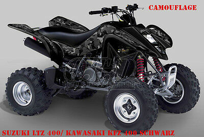 Invision Dekor Graphic Kit Atv Suzuki Ltr 450 Ltz400 Ltz250 Camo , Decals B