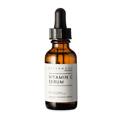 Vitamin C MAP Serum w/ Organic Hyaluronic Acid For Face 1oz Asterwood Naturals