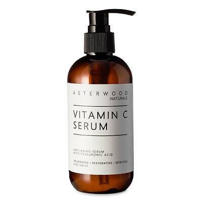 Vitamin C MAP Serum w/ Organic Hyaluronic Acid For Face 8oz Asterwood Naturals