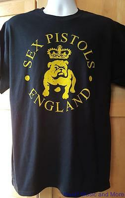 "SEX PISTOLS T-Shirt   ""Bulldog""  S, M, L, XL, XXL  Official/Licensed  NEW"