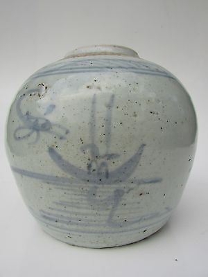 Chinese Qing Dynasty ginger jar authentic 1700's beautiful Dragonfly motif