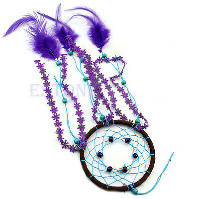 Hot Dream Catcher with feather Car wall hanging decoration ornament Crafts