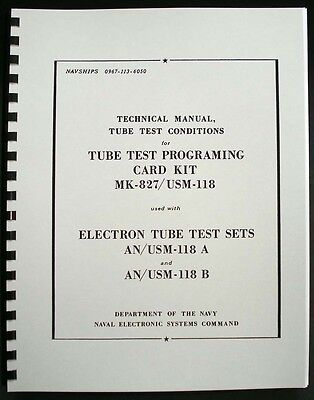 133 Page 1968 Tube Test Conditions for Hickok Cardmatic Tube Testers AN/USM-118
