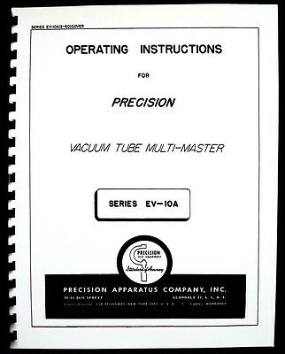 Precision Apparatus EV-10A Vacuum Tube Multi-Meter Manual