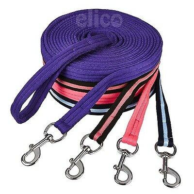 Elico Soft Feel Horse Lunge Rein Line 8 metres Long Trigger Clip & Loop Handle