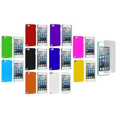 Ultra Thin Hard Rubberized Case Cover+Screen Protector for iPod Touch 5th Gen