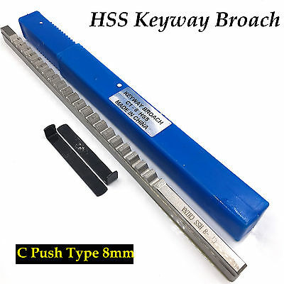 8mm C Push Type Keyway Broach Metric Size HSS &Shim Involute Spline Cutting Tool