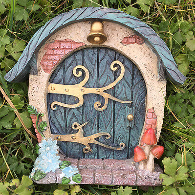 Large Garden Fairy Door Outdoor Decoration Cottage Vintage Flowers NEW 39155