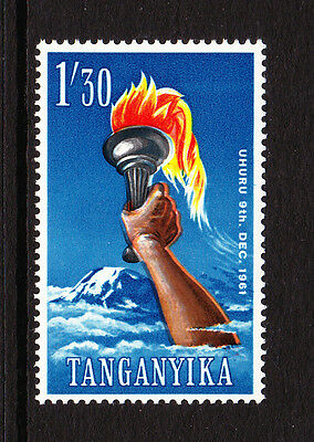 TANGANYIKA 1961 1s30 WITH SMALL COLOUR SHIFT OF RED SG 115var. MNH.