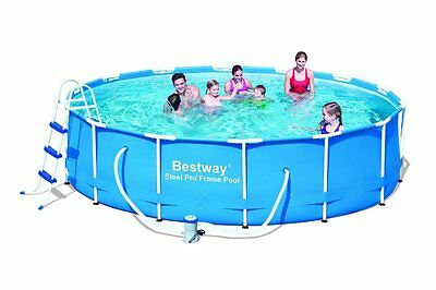 Bestway 14ft x 39.5inch Steel Pro™ Frame Swimming Pool Set Pump Cover Ladder