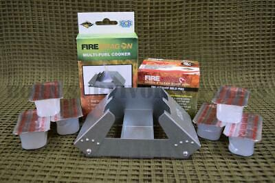 BCB FIREDRAGON STOVE MULTI-FUEL FOLDING COOKER British Army Military Issue Hexi