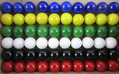 60 Solid Color new Replacement Marbles Set run Chinese Checker board game GLASS